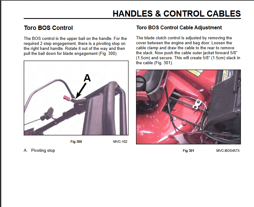 Replaced my brake cable on my toro 20383 and now the blade