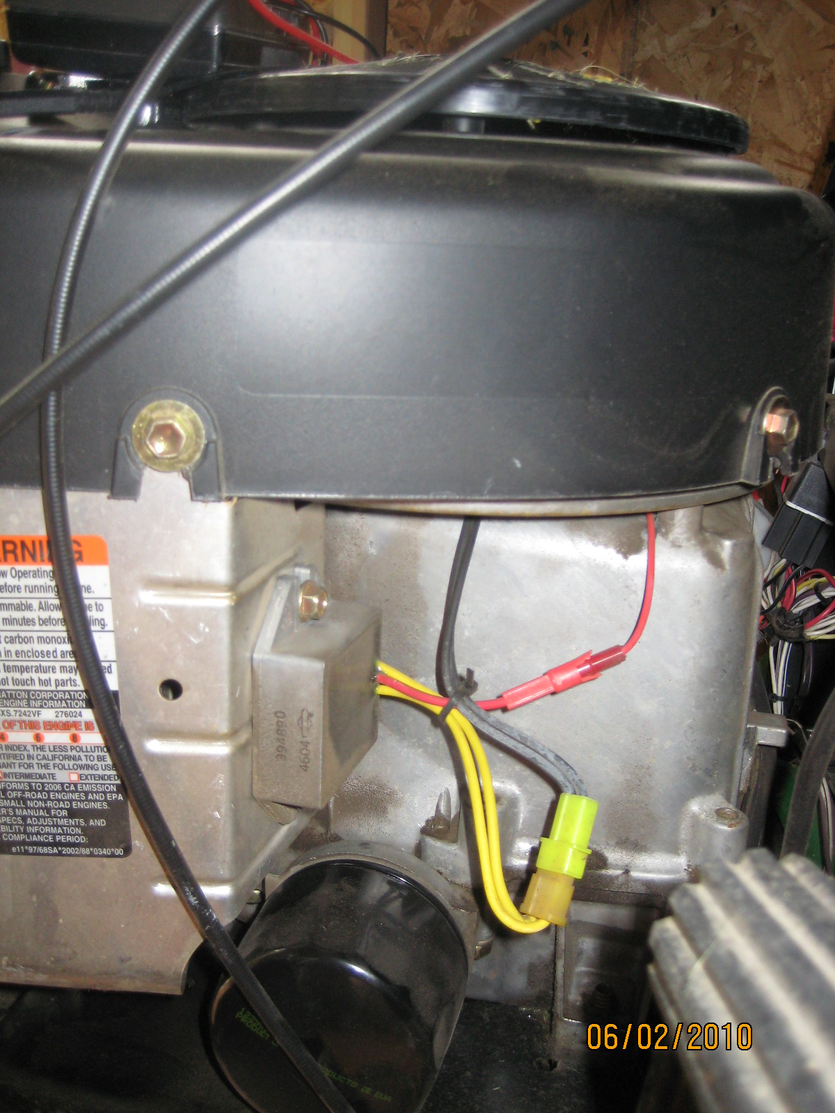 3 wire voltage regulator diagram have a deere l111 riding mower with a briggs amp stratton 40 4 wire voltage regulator wiring diagram #10