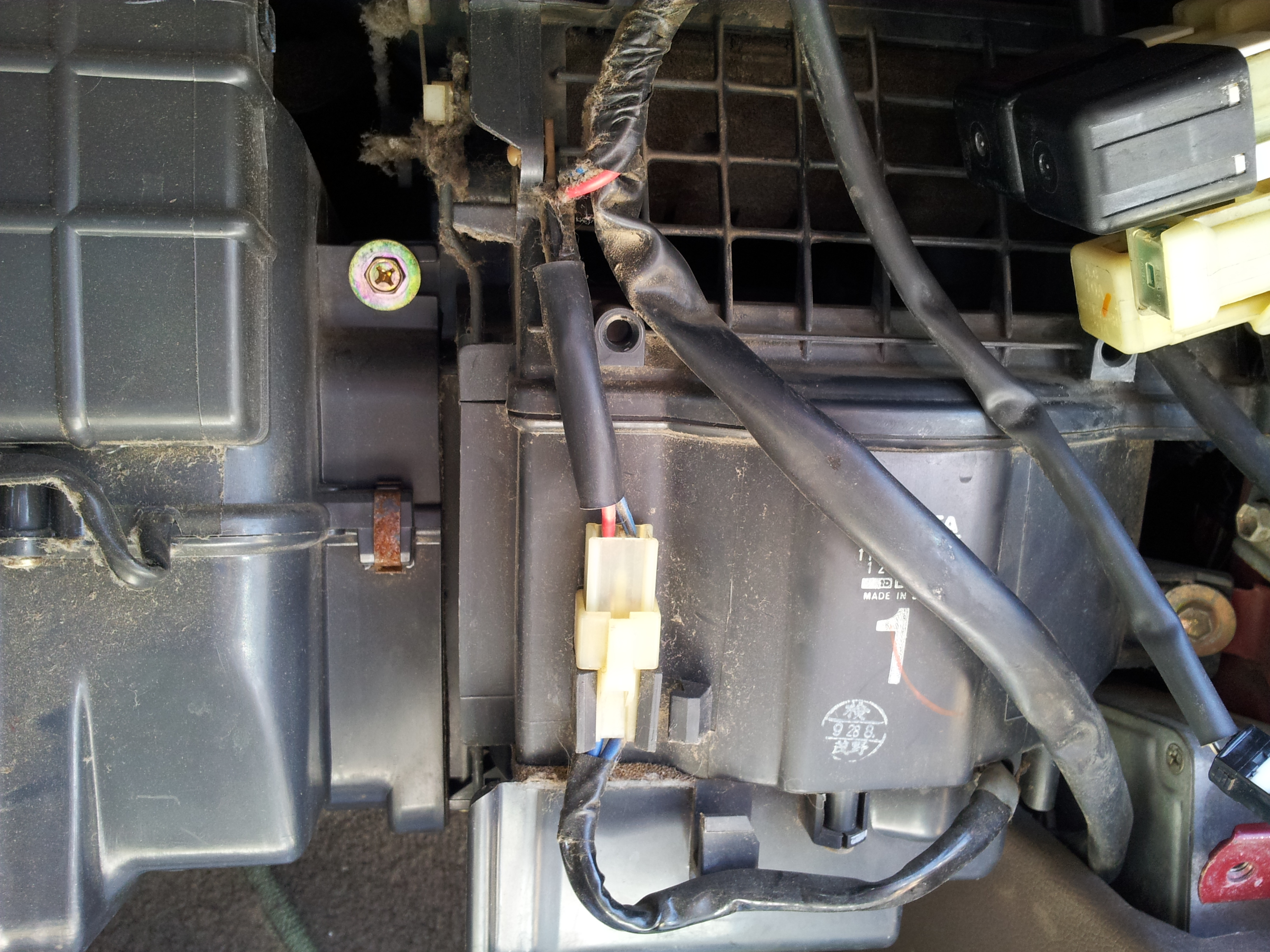 1995 Toyota 4 Heat And Ac Not Working It Just Quit All At Once No Heater Blower Motor Wiring Diagram Multi Meeter Reads 04 Set On 20 Dcv Graphic Mechanic Skyvisions