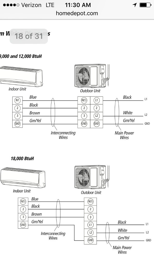 gree mini split wiring diagram