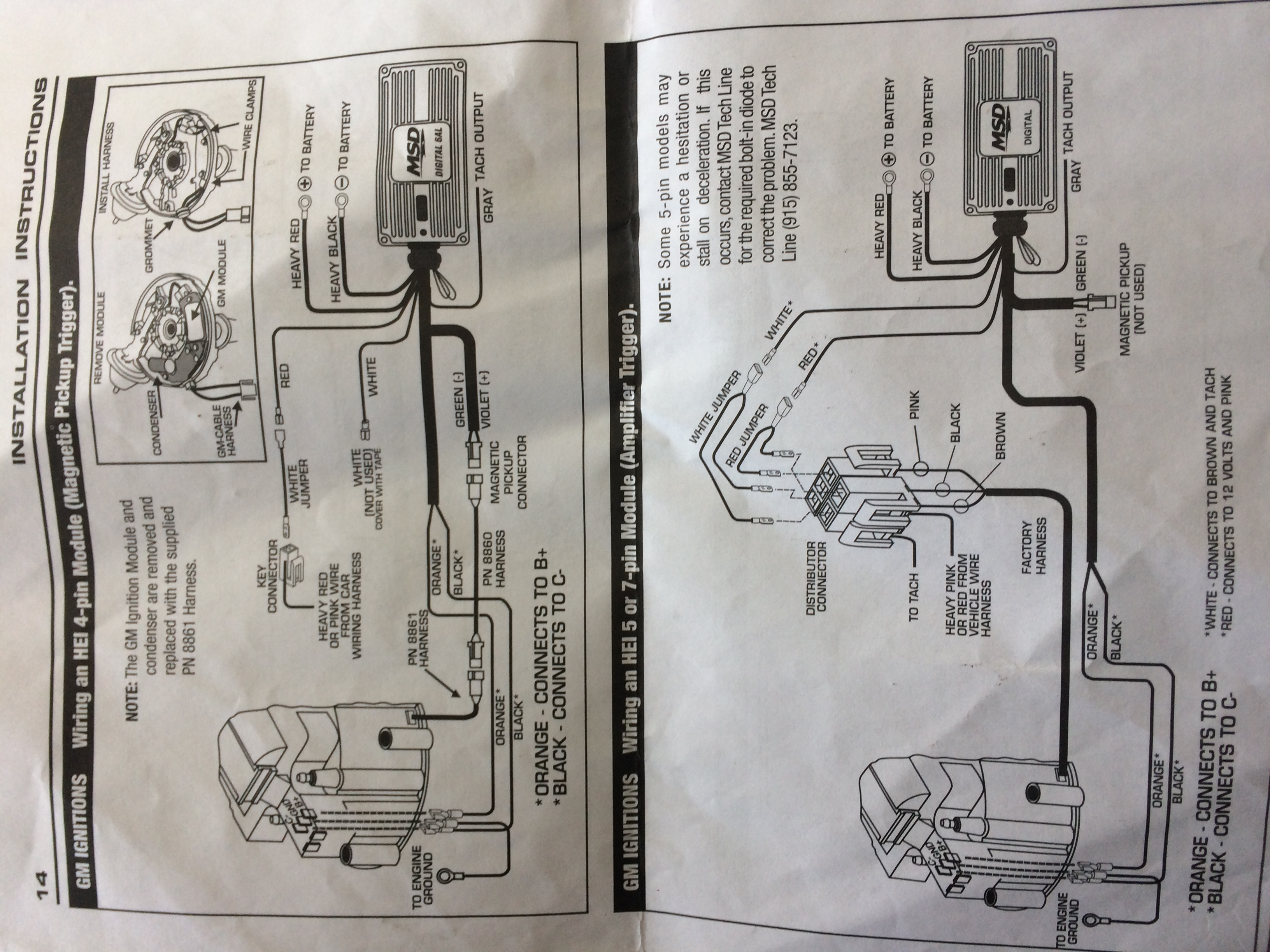I Have Purchased A Msd 6al Ignition Unit And Fitted It To My 65 Magnetic Trigger Wiring Diagram Img 5070