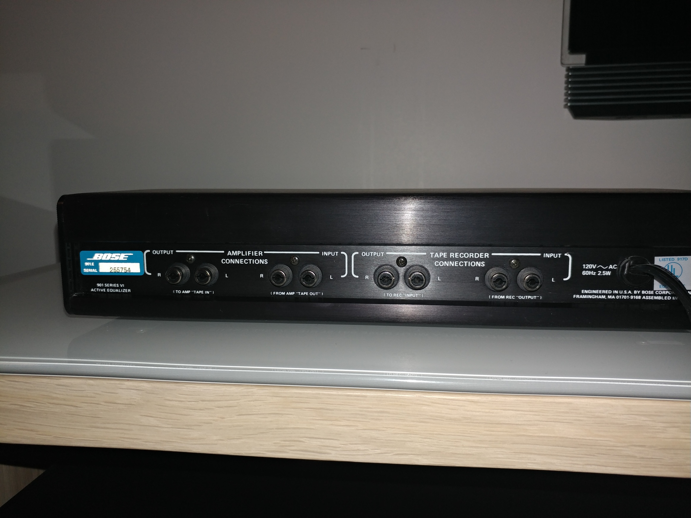 Bose 901 equalizer connections to a new reciever, Bose 901