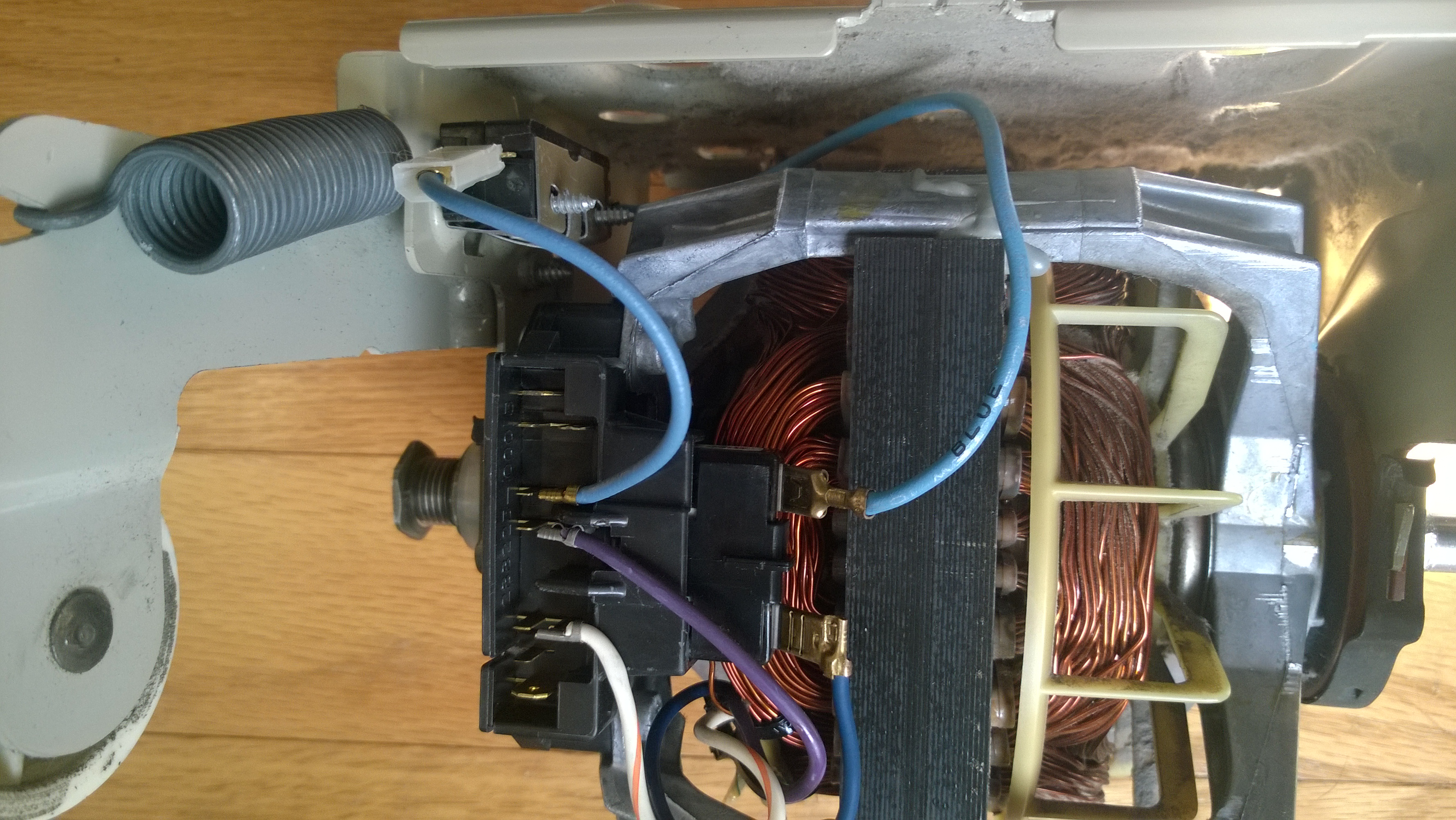 Replacing Dryer Motor With 279787 The Broken Belt Sensor Wire Does Maytag Heating Element Diagram Further Kenmore Elite Wp 20160403 0011