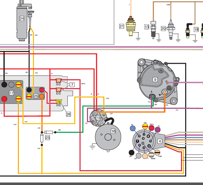 Volvo Penta 5 0 Gxi E Wiring Diagram | Wiring Schematic ... on