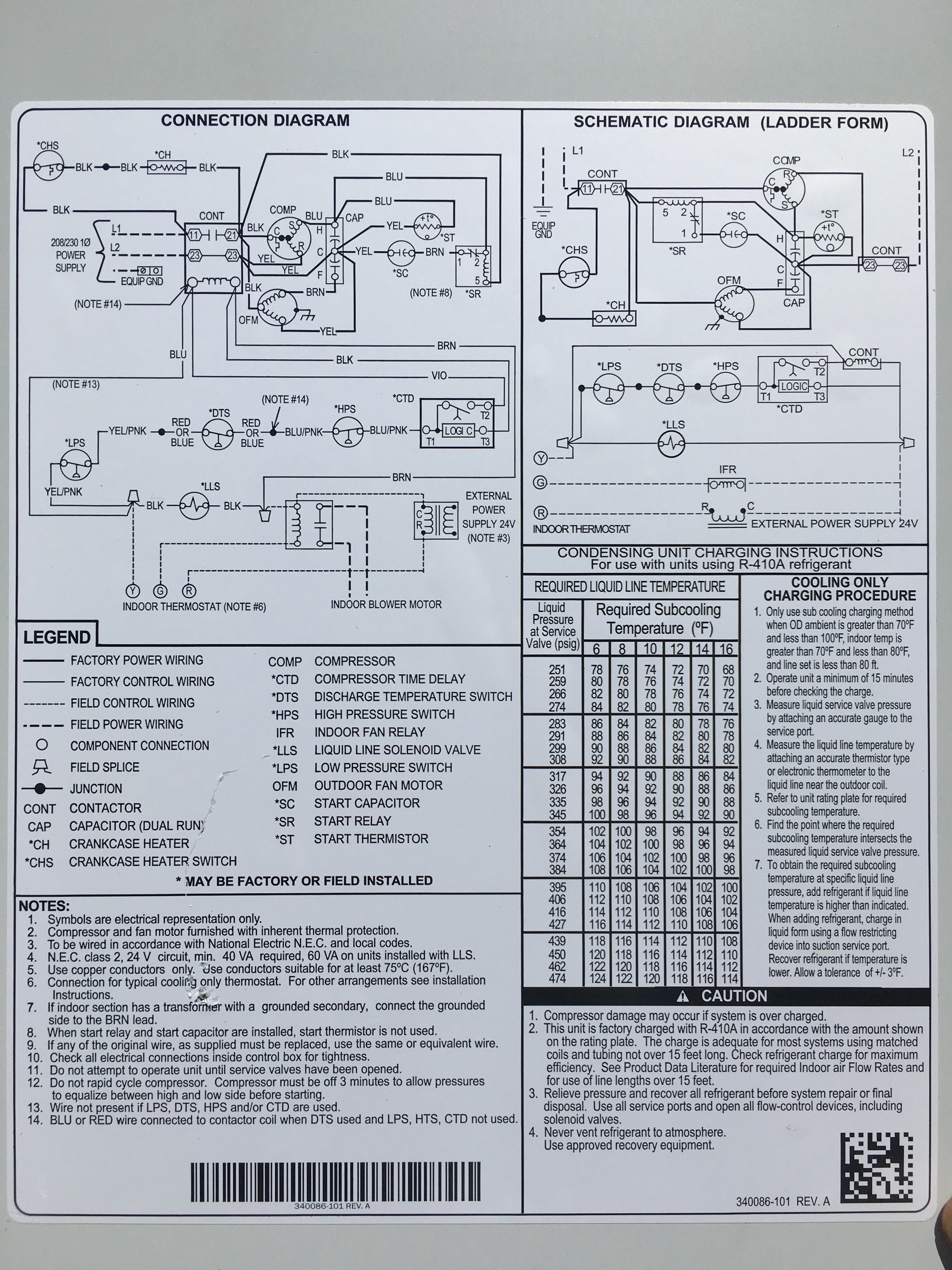 I Have A Payne Ac Unit And A Carrier Air Handler  They Were Installed Prior To New Electrical