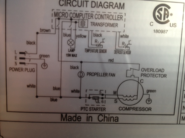Diagram I Had To Get A New Fan Motor For My Magic Chef Central Air