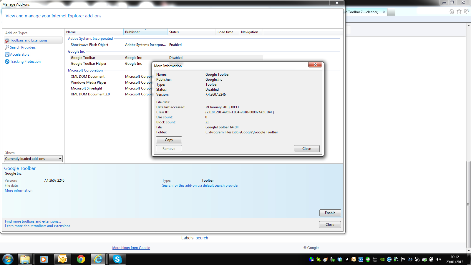 I Am Running Windows 7 With Internet Explorer 9 And