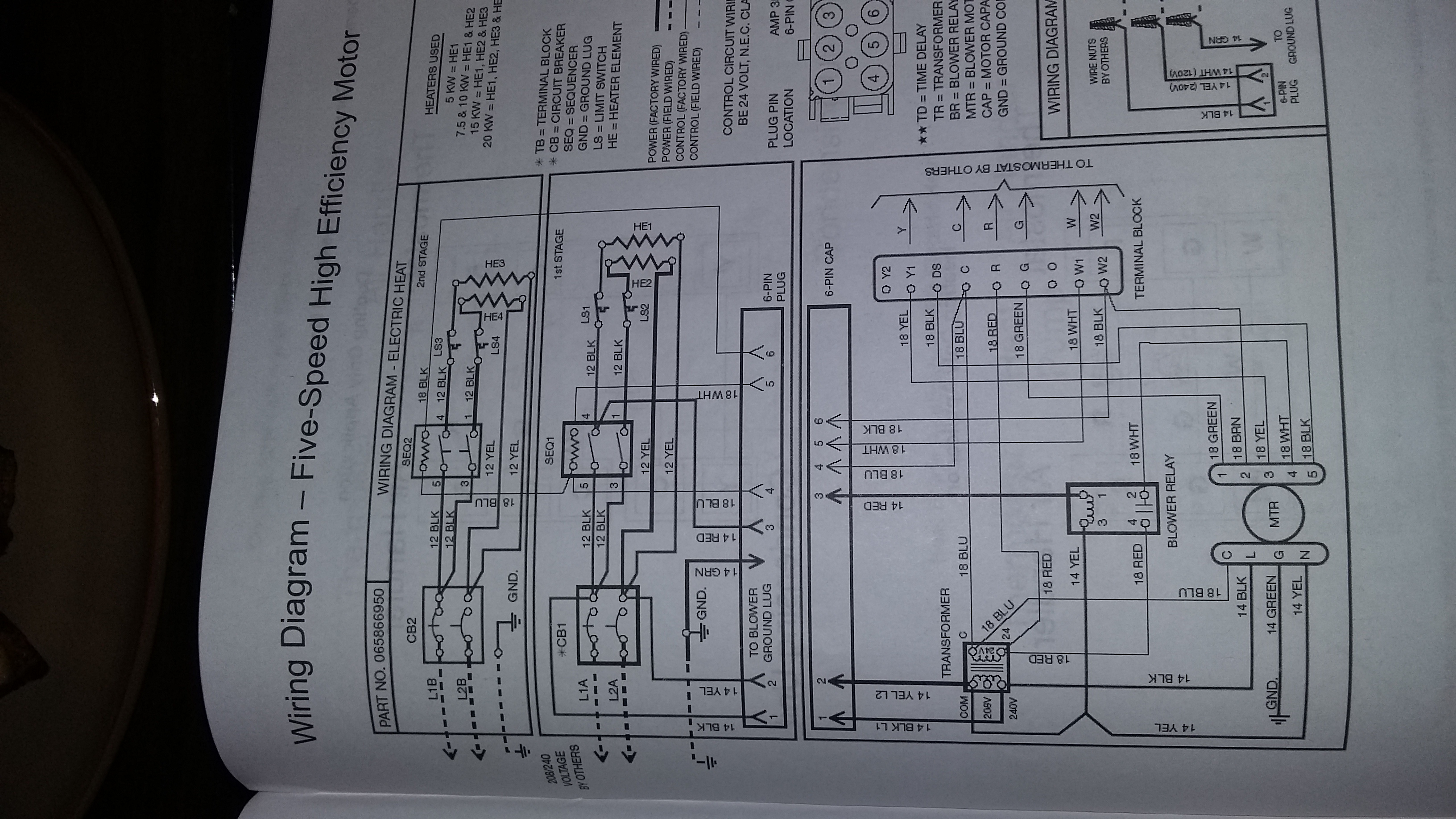 I Have A York Heat Pump And My Defrost Board Was Bad Installed Trane Wiring Diagrams Model Echalon 20161218 194439