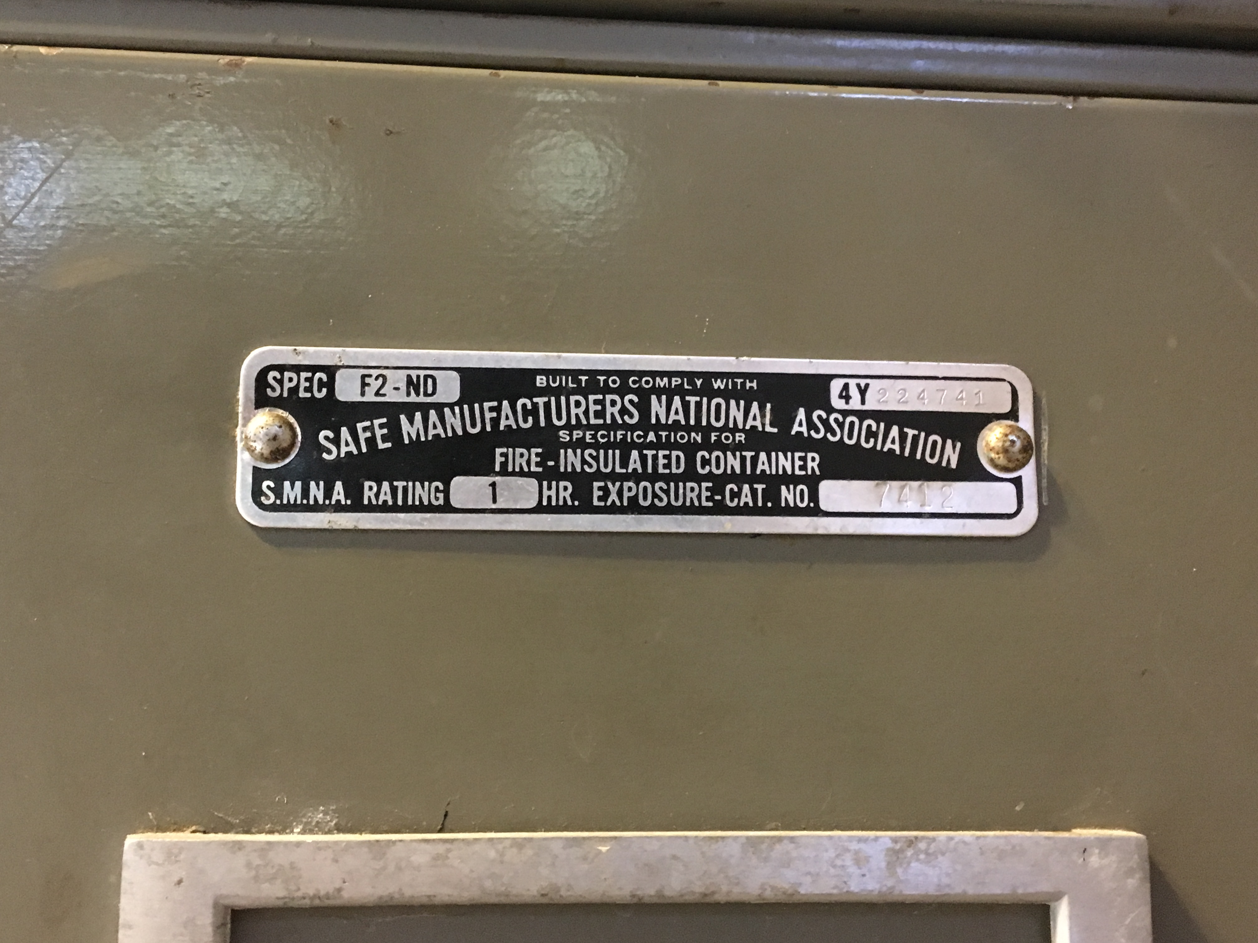 I have an old Victor Fire Master filing cabinet/safe  Has a