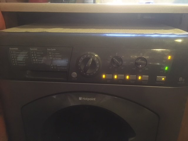 Hotpoint Aquarius Washing Machine All Lights Flashing