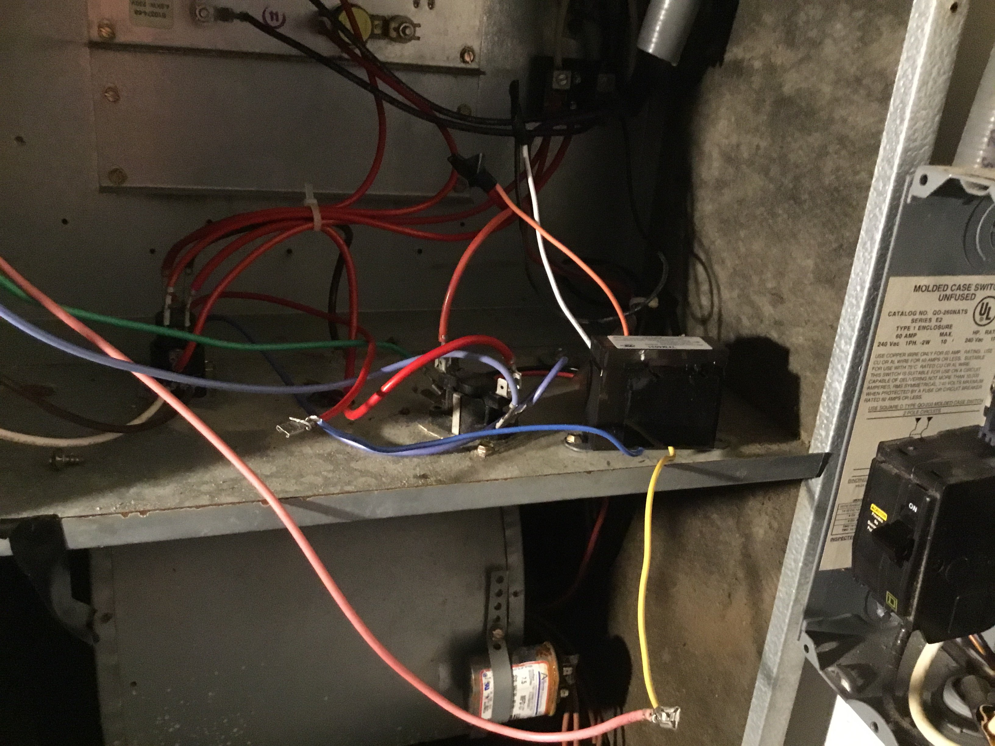 The Transformer In My Air Handler Appears To Have Burned Out I Compressor Wiring Diagram Lennox Cb29m Img 0923