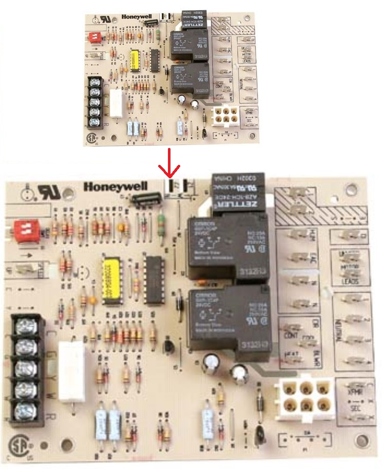 Honeywell+Furnace+fan+circuit+Control+board+ST9120C+2010 captivating wiring diagram honeywell 9120c 2002 images wiring  at bayanpartner.co