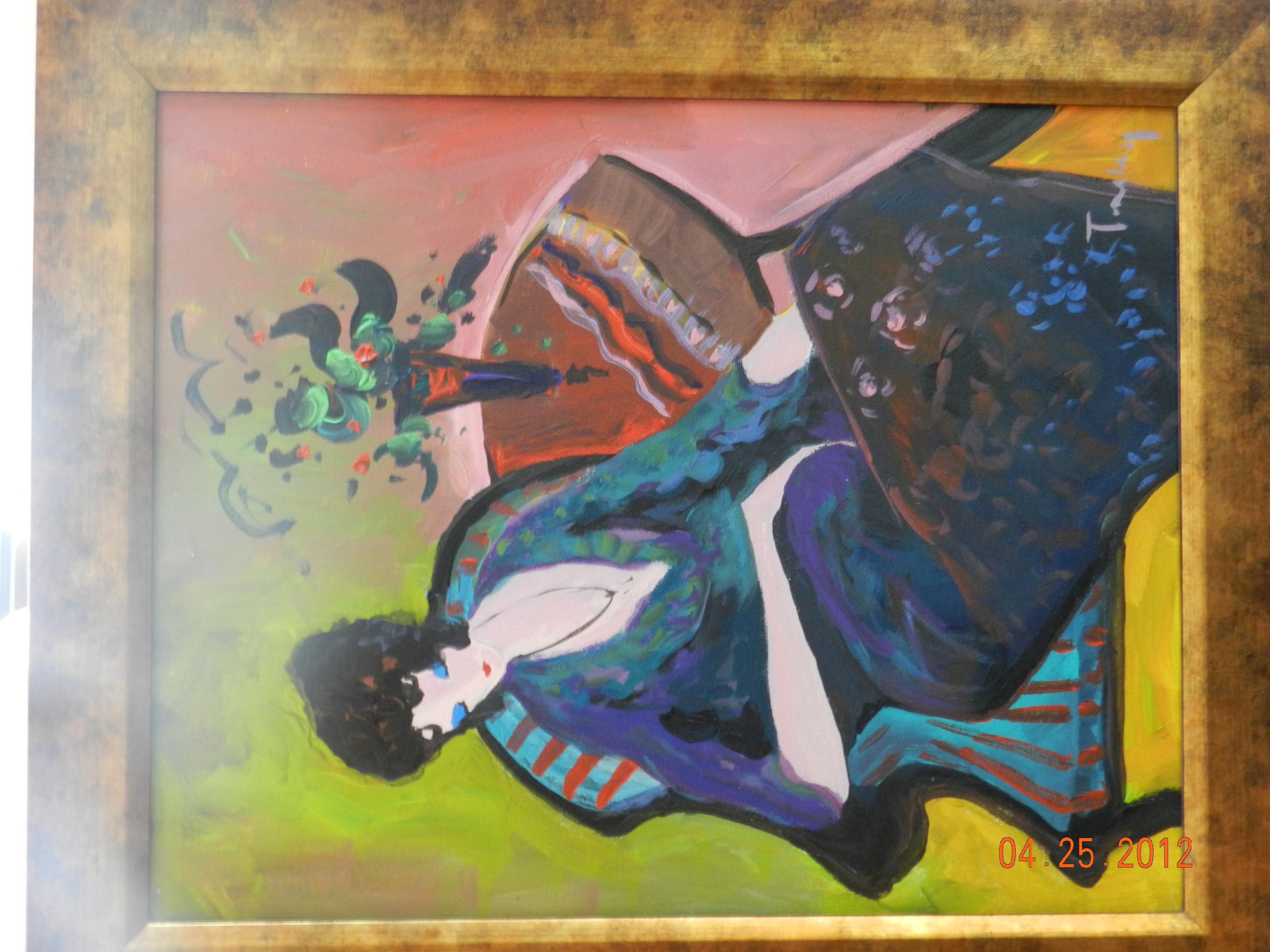 "I have e across a Tarkay original oil on canvas ""Grace"" I do"