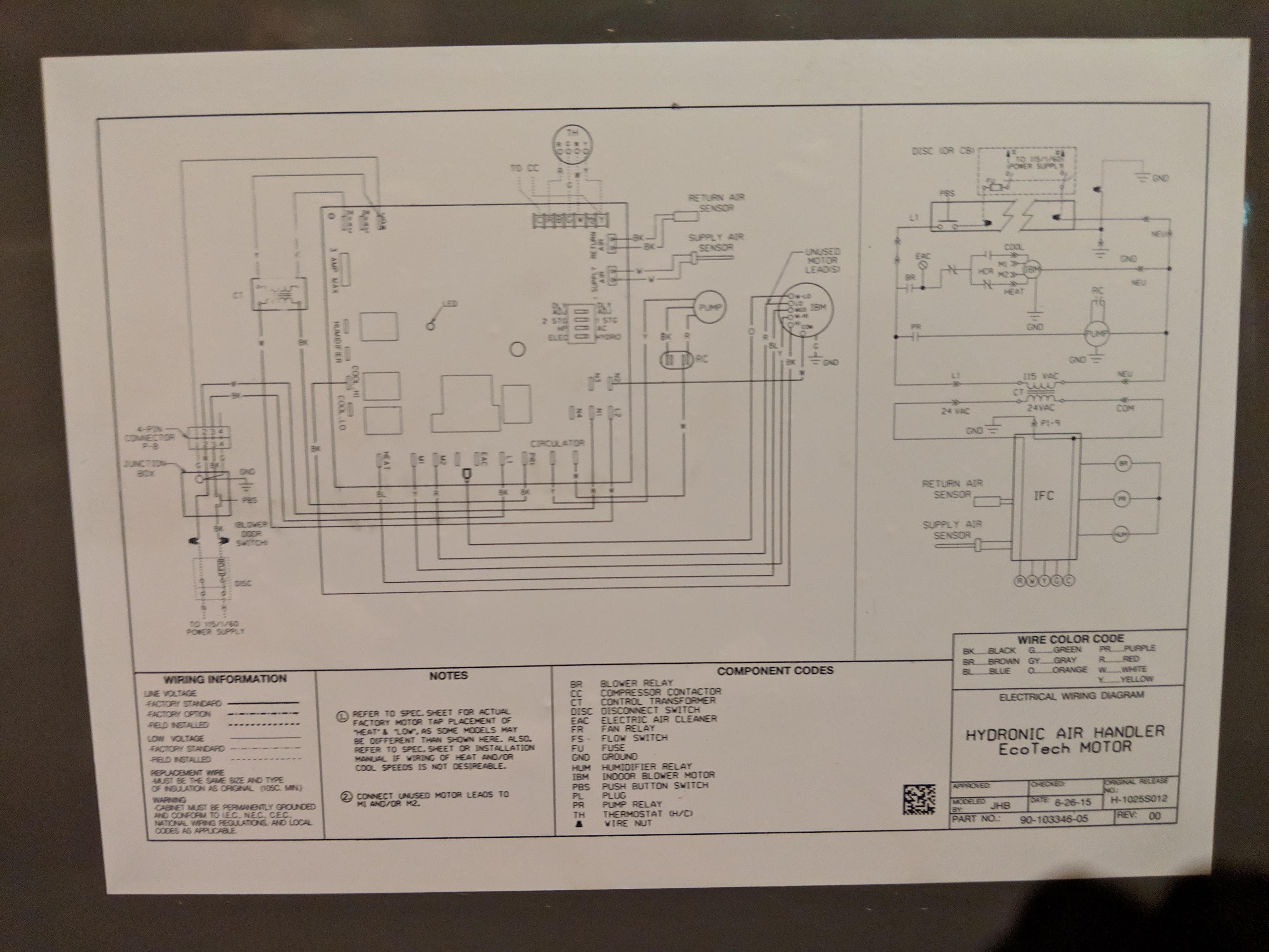 Ac Air Handler Wiring Diagram Rheem Air Handler Wiring Diagram