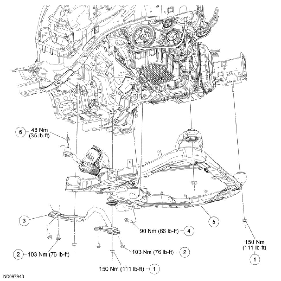 Relax the tension from the belt tensioner install the drive belt