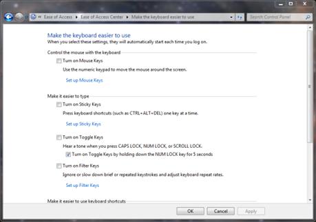how to turn off sticky keys on hp laptop