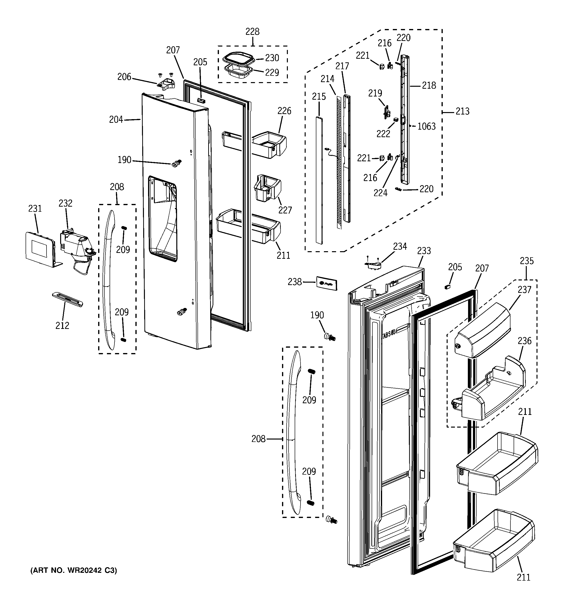 Ice Maker Diagram Parts List For Model Arse667bwparse667bw1 Amana