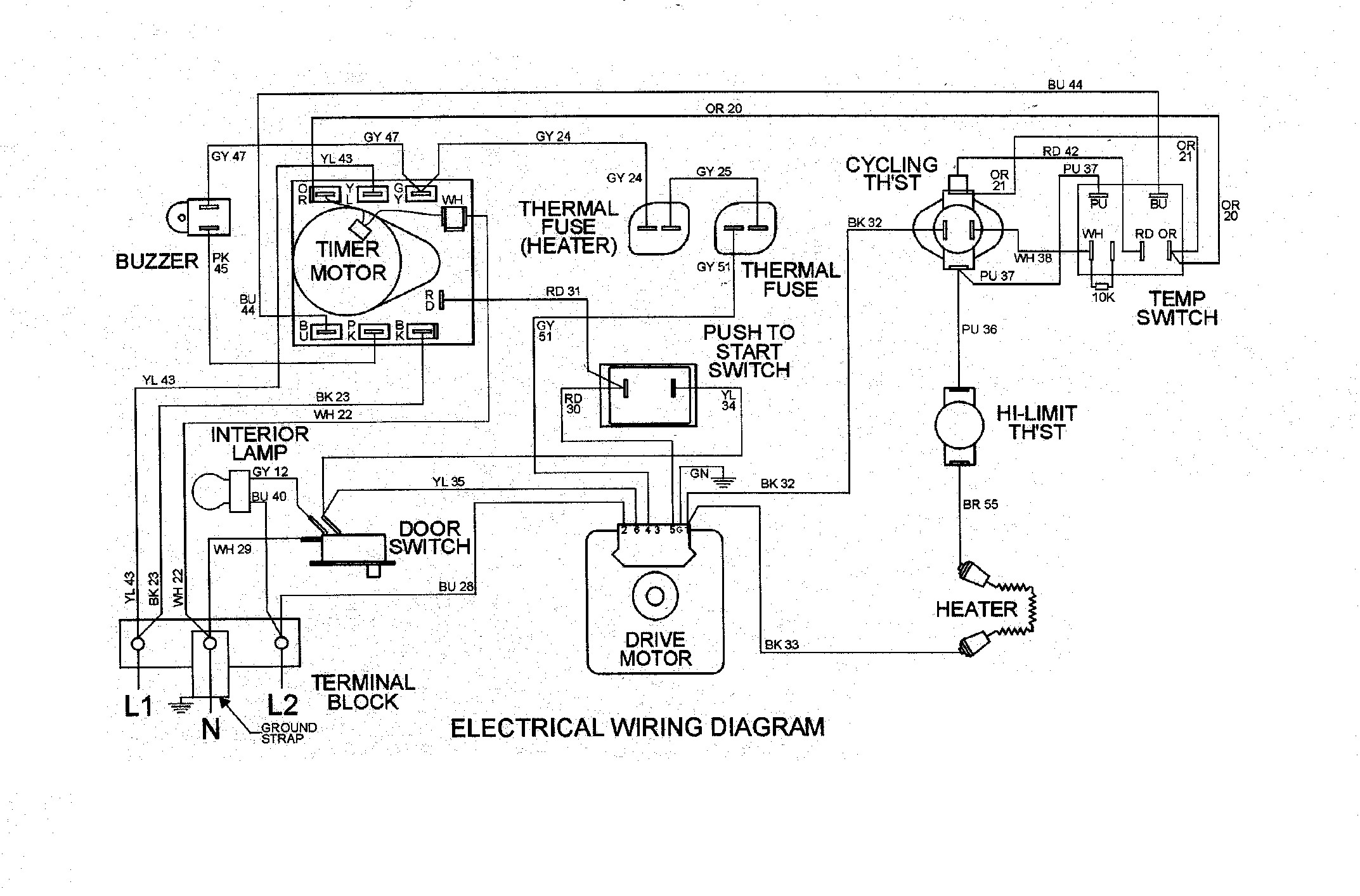M0508013 00008 can i disable the buzzer on my maytag dryer md 14 md6200? maytag dryer wiring diagram at bayanpartner.co