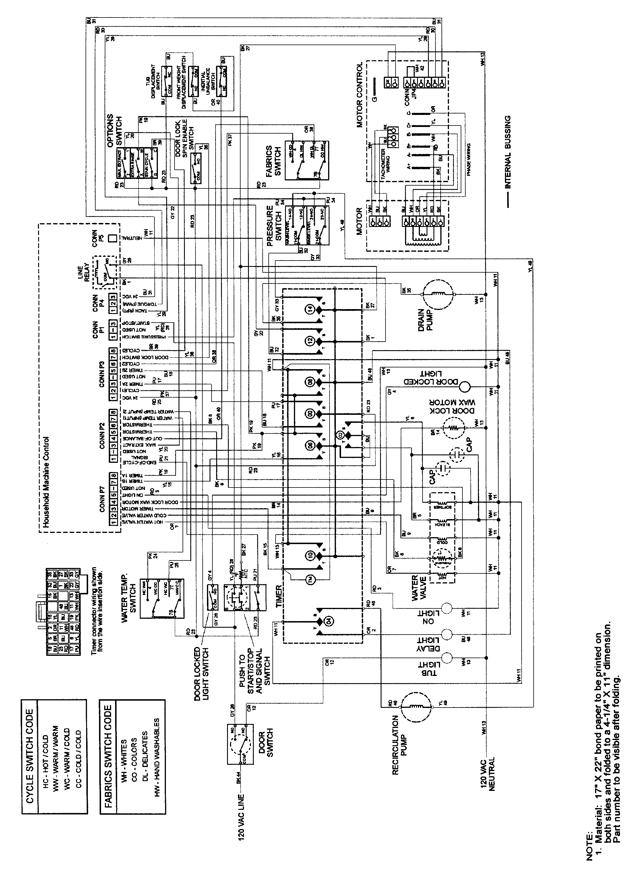 changed the bearingd on a mah5500 neptune washer i get th With board the wires got pulled off or pinched here is some wiring diagrams