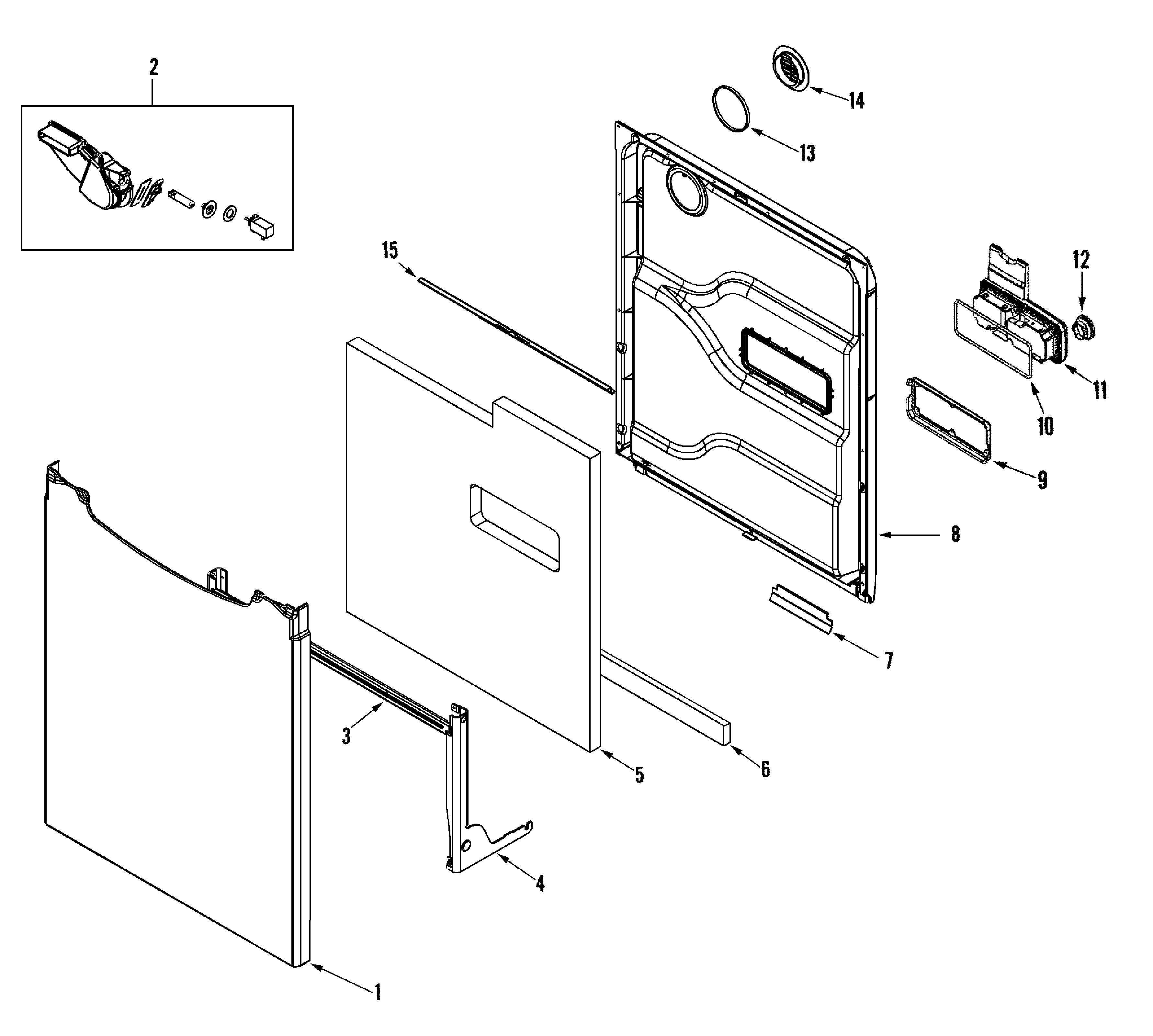 Have A Ge Dwb 8600 That Leaks From The Right Front Corner Of Kenmore Elite Dishwasher Model 665 Wiring Diagram