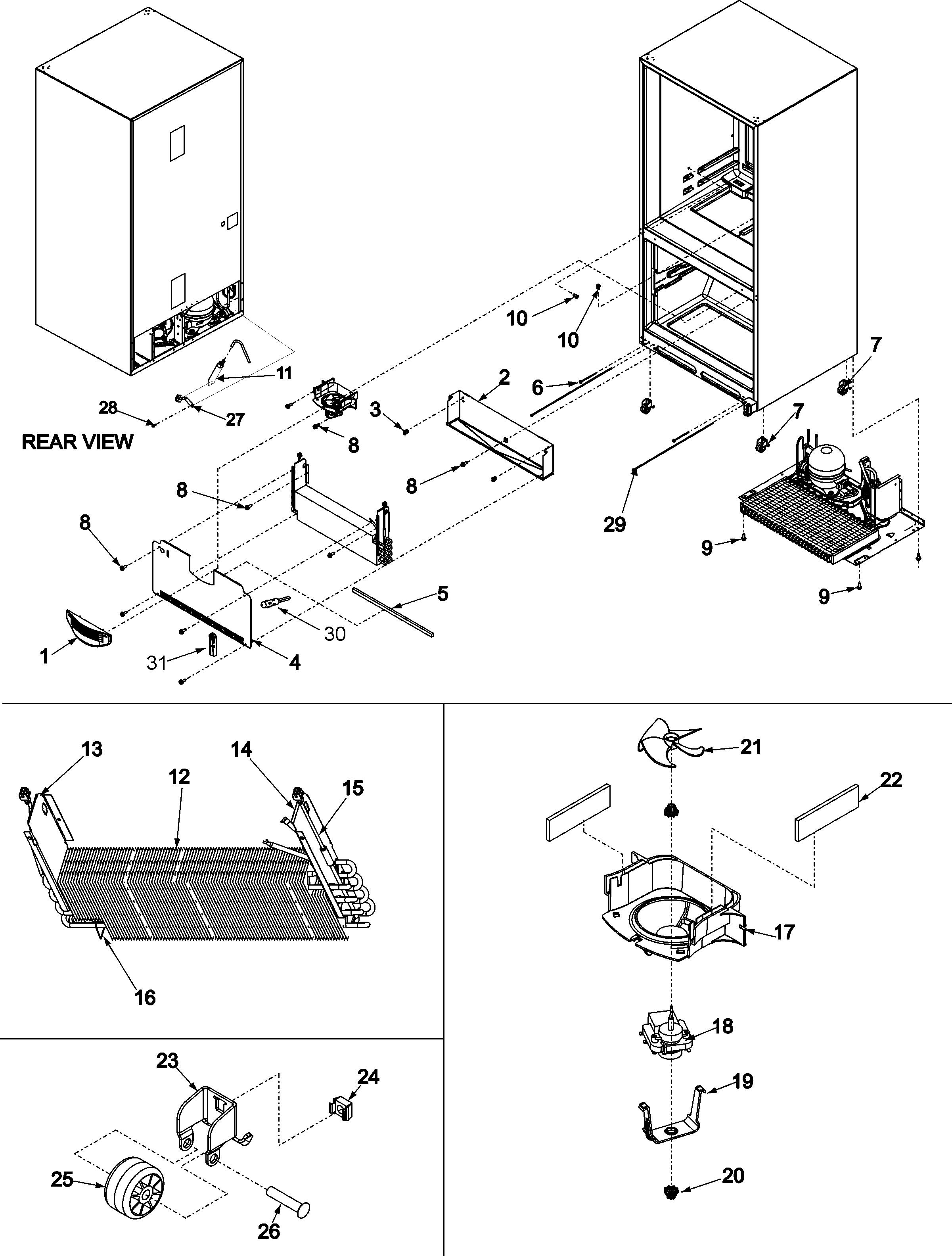 Maytag Refrigerator Mod: MF C2061 HEW SN: 1293 7443 JG The