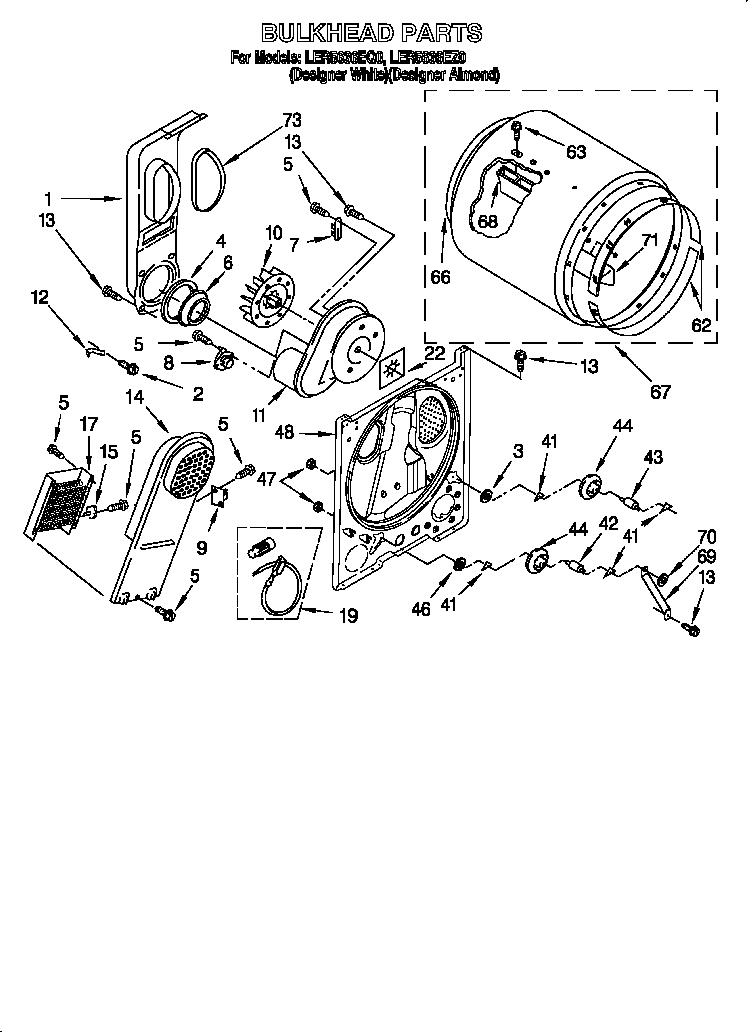 O2024299 00003 whirlpool model ler5636eq3 electric dryer it runs, but no heat