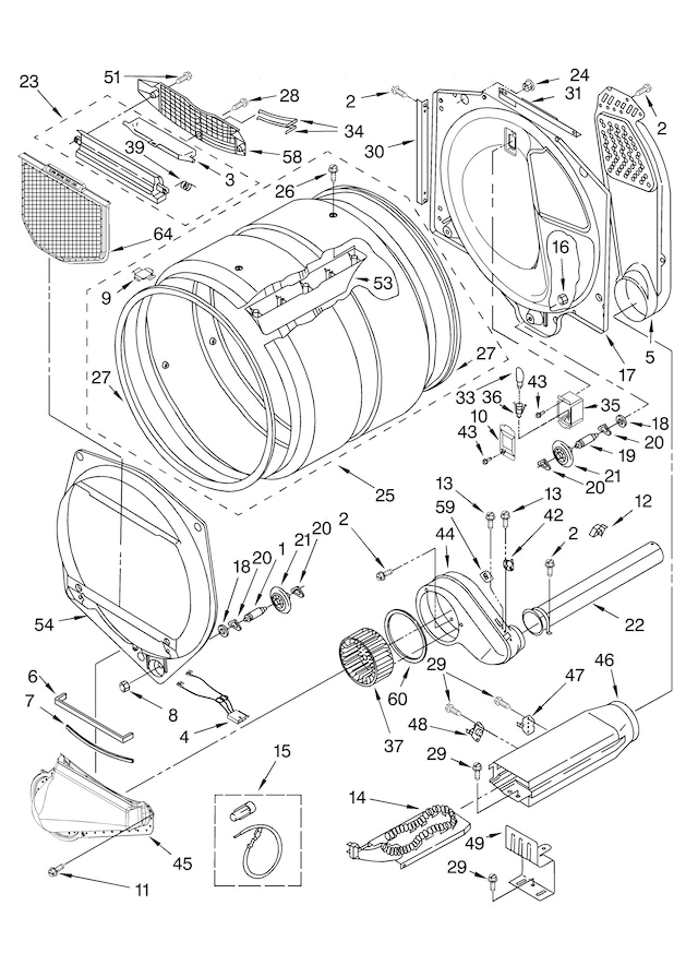 Blower Assembly Diagram Parts List For Model 143840500 Kenmoreparts
