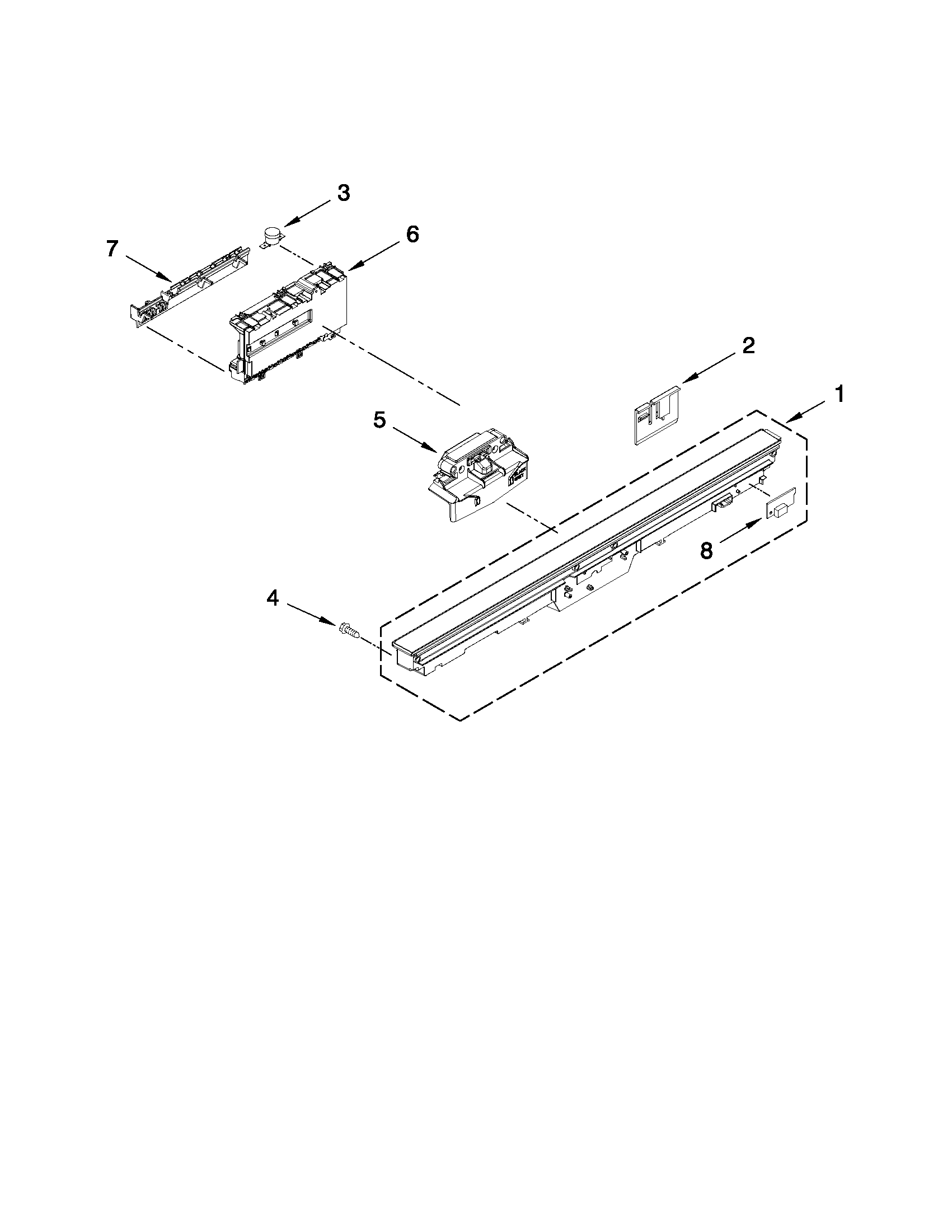 how do i reset my kitchenaid dishwasher  lights on control panel wont come on  its model number