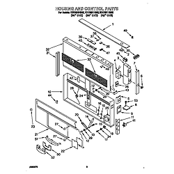KITCHENAID Vent system Housing/control Parts