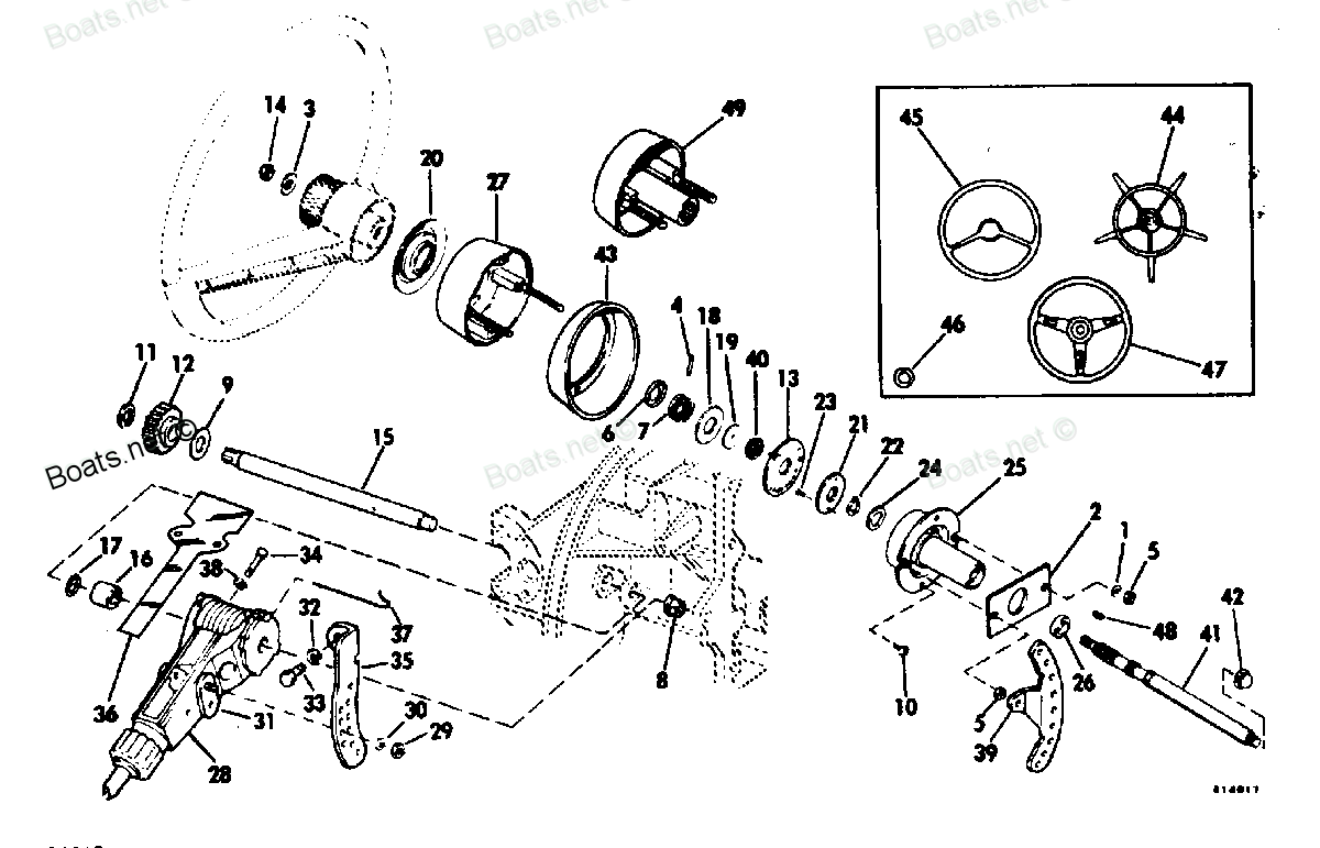 omc outdrive steering diagram
