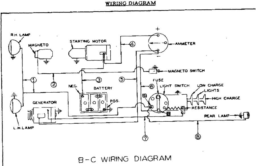 B And C Wiring Diagram on 6 volt ford generator wiring diagram
