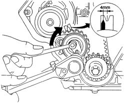 i have a 2000 daewoo leganza and just replaced the timing belt i 2000 Honda Civic Timing Marks