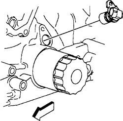 where is my crank shaft sencor on 99 chevy cavalier 2001 Chevy Cavalier Z24 click image to see an enlarged view