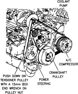 what is the procedure for replacing a belt tensioner assembly on my 1997 buick lesabre thanks 1997 buick lesabre