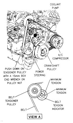 what is the procedure for replacing a belt tensioner