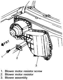 Replace S10 Blower Motor Diagram