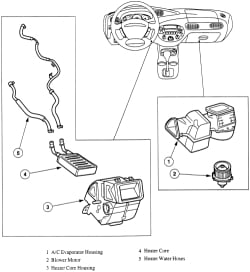 do i have to remove the dashboard in order to replace the heater 2000 Ford Focus Heater Core heater core from the housing click image to see an enlarged view