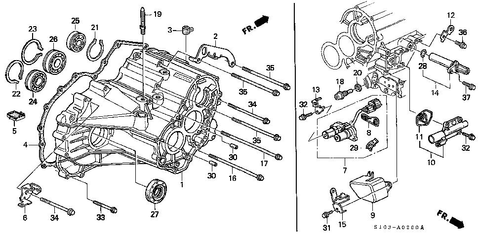 honda cr v automatic transmission parts diagram  u2022 wiring diagram for free