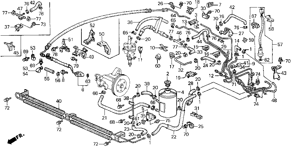 2001 honda prelude engine diagram