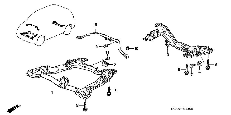 procedure for remove replace right frame rail on a 2006 honda crv ex rh justanswer com Honda Parts Diagram Honda Parts Diagram