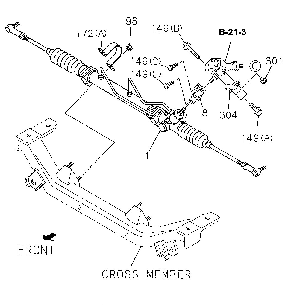 1994 honda accord rack and pinion diagram