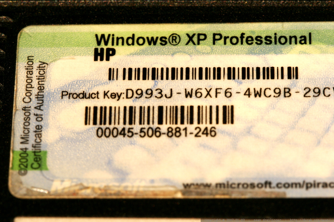 How to find my windows xp product key to activate for Window xp product key