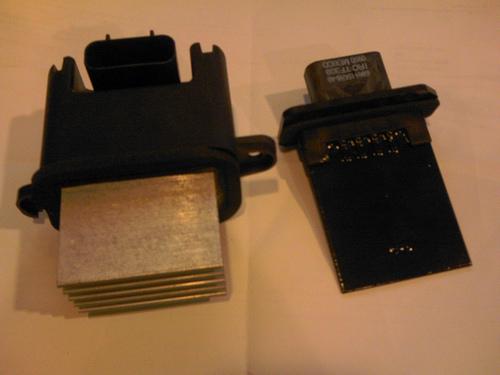 2005 nissan titan where is blower motor resistor vs vbc for Nissan frontier blower motor not working