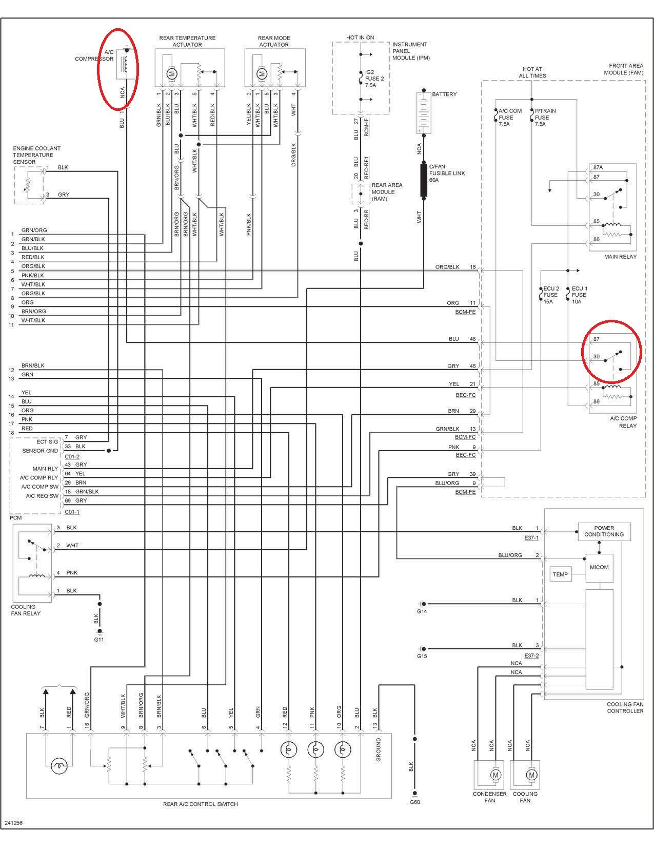 Hvac Fuse Wiring Diagram Great Design Of Bryant Diagrams Kia Spectra Air Conditioning 36 Basic