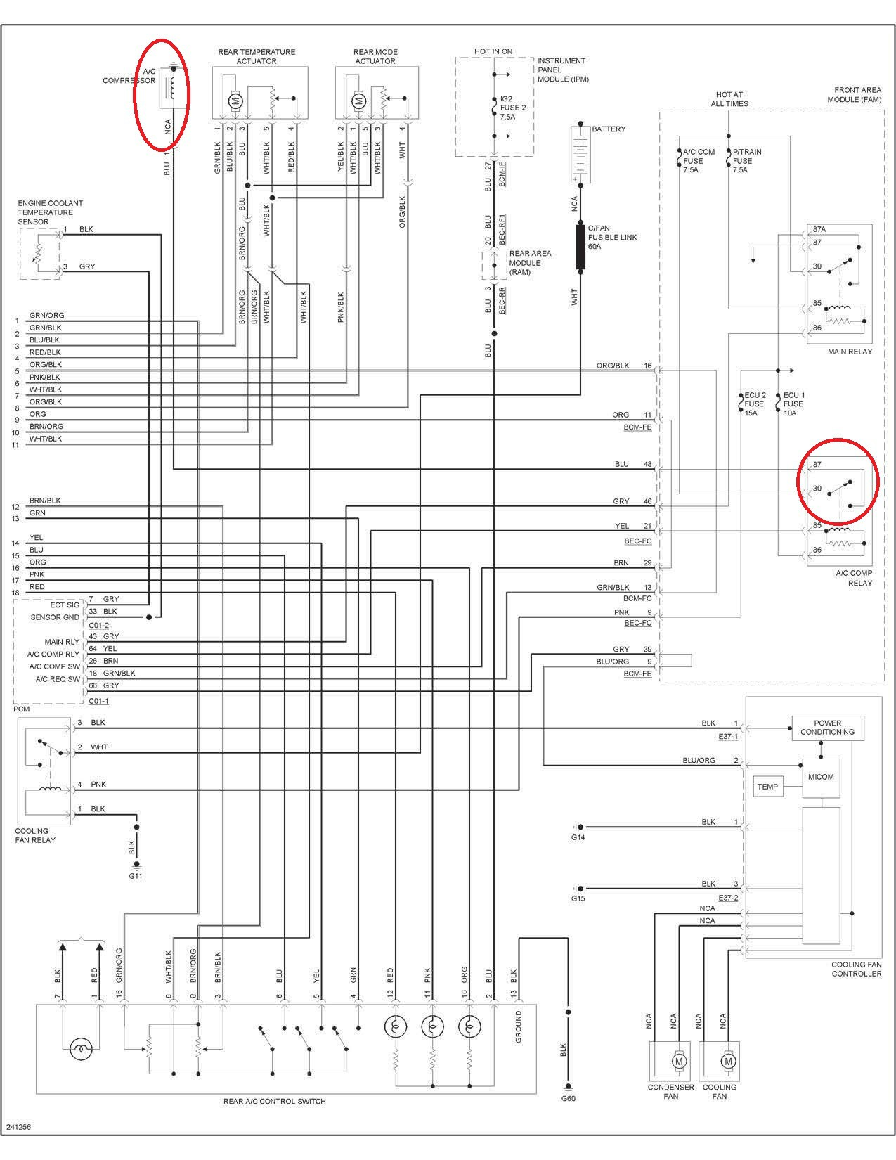 Hvac Electrical Wiring Diagram Kia Sportage Diagrams 98 I Have A 2006 Sedona The 7 5 Ac Fuse Keeps Blowing 2001