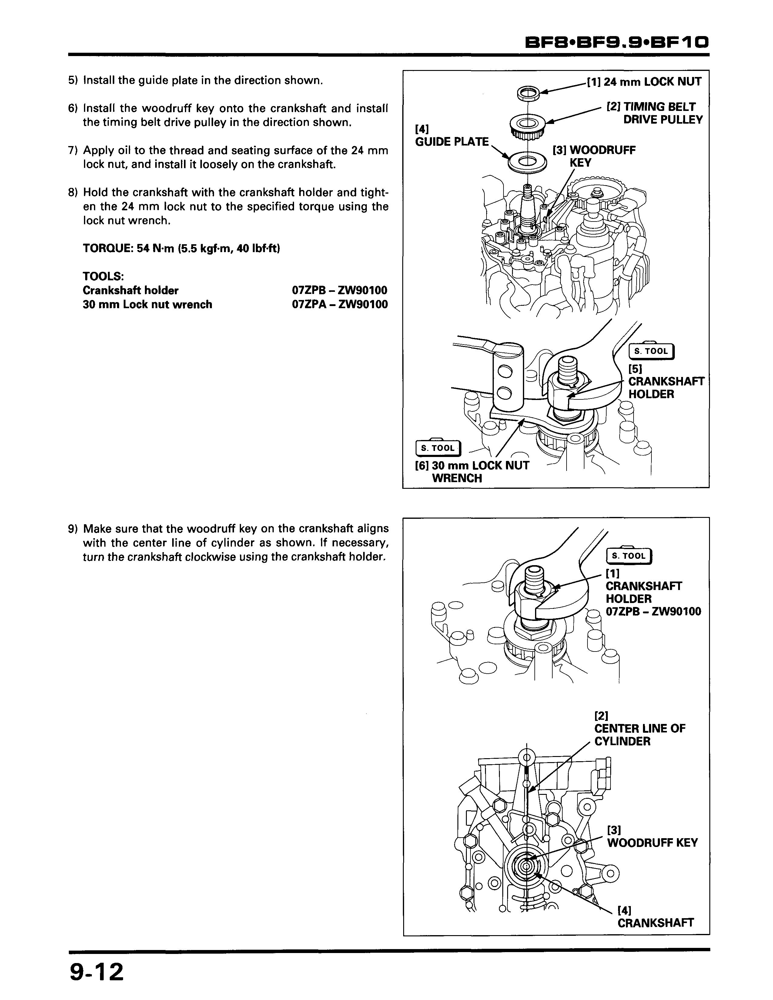 honda bf8a 8hp 4 stroke set timing bzbc1800392 Mercury Outboard Repair the timing marks, and everything you need to follow is right there on those 3 pages