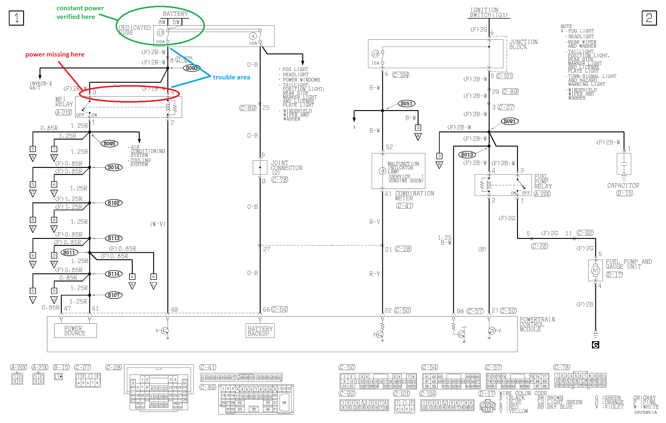 2000 Eclipse Gs 24 No Start Injector Pulse Spark Fuel Mitsubishi Rs Wiring Schematic Thanks We Need To Address That Issue Then If Mfi Relay Doesnt Get Power It Can Never Turn The Computer On And Of Course Problems Pile Up From