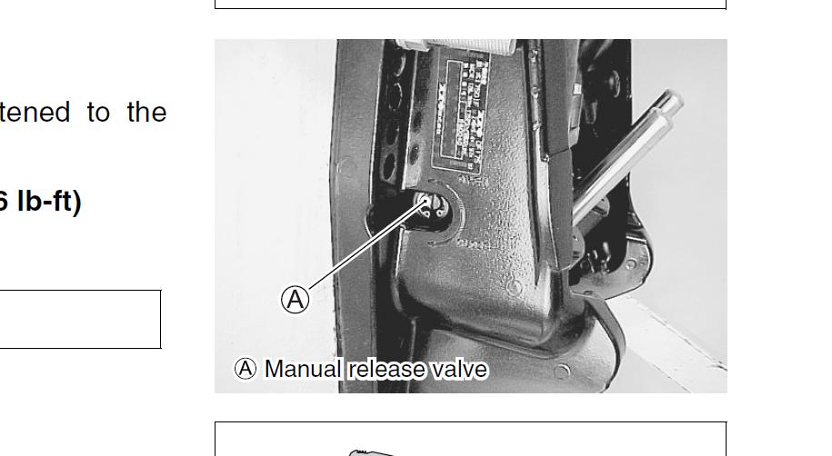 Where Is The Manual Valve Screw For A Yamaha Tilt