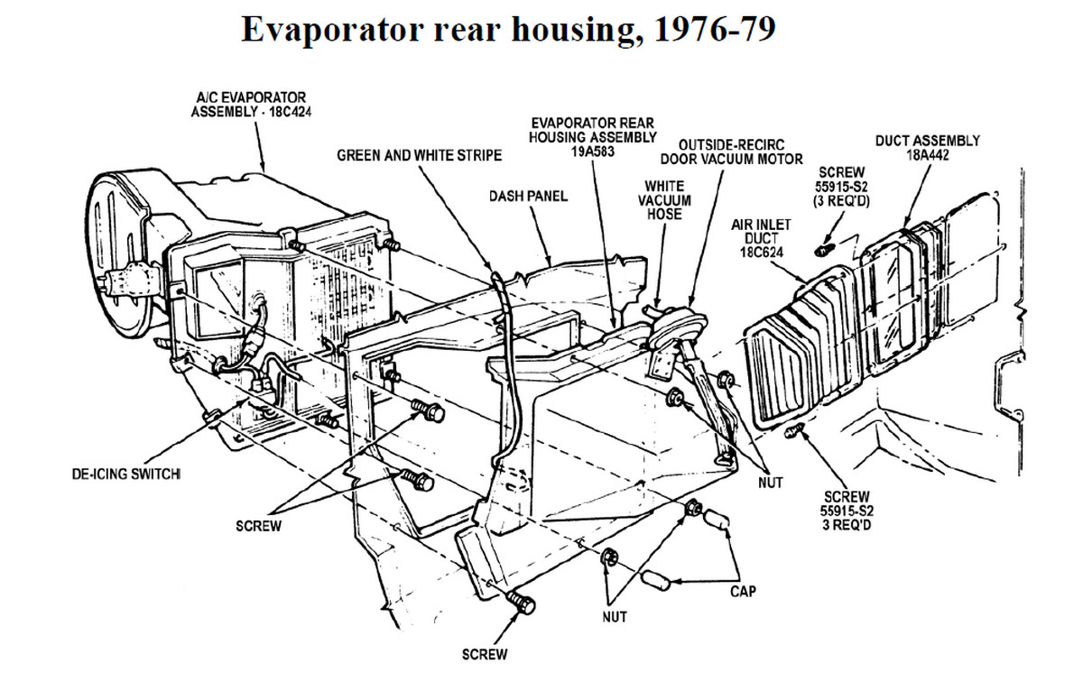 77ux3 F100 Replace Heater Core 1978 on ford thunderbird vacuum hose diagram