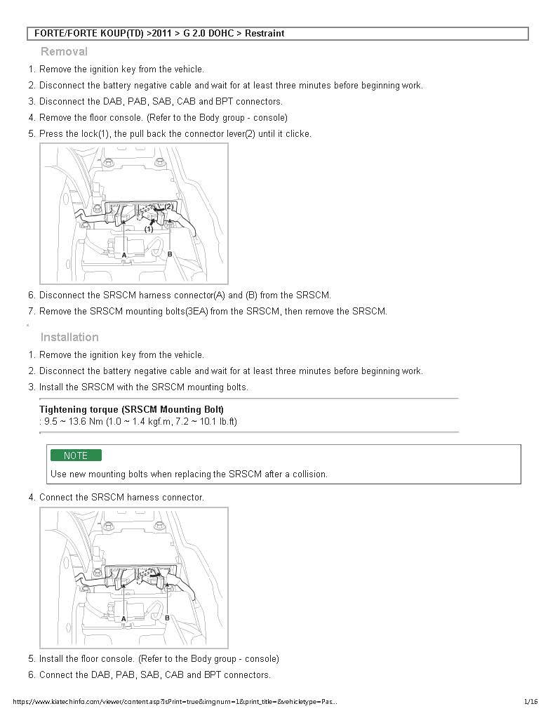Kia Soul: SRS Control Module (SRSCM). Description
